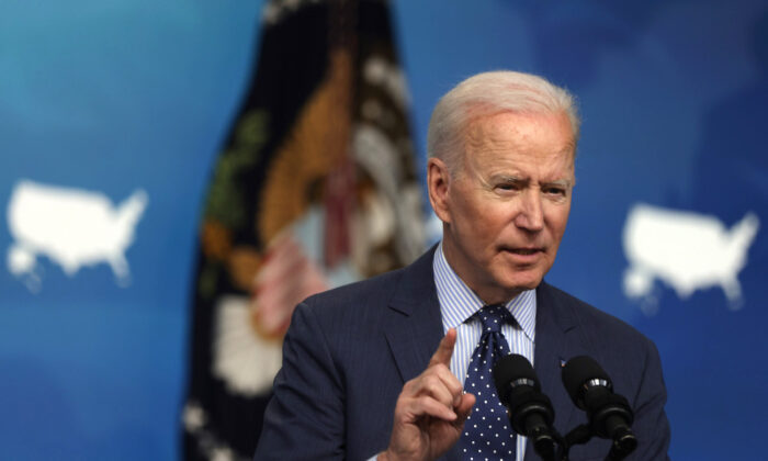 President Joe Biden speaks during an event in the South Court Auditorium of the White House in Washington, on June 2, 2021. (Alex Wong/Getty Images)