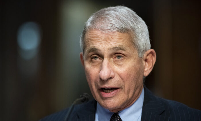 Dr. Anthony Fauci, director of the National Institute of Allergy and Infectious Diseases, speaks during a Senate hearing in Washington, on June 30, 2020. (Al Drago/Pool/Getty Images)