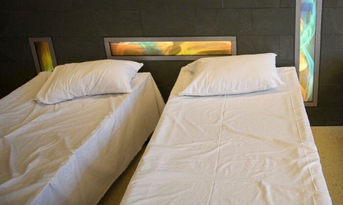 Hospital beds in a file photo. (Patrick T. Fallon/AFP via Getty Images)