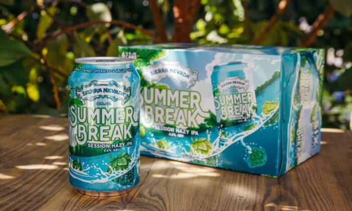 Sierra Nevada Brewing Summer Break Session Hazy IPA. (Courtesy of Sierra Nevada Brewing)
