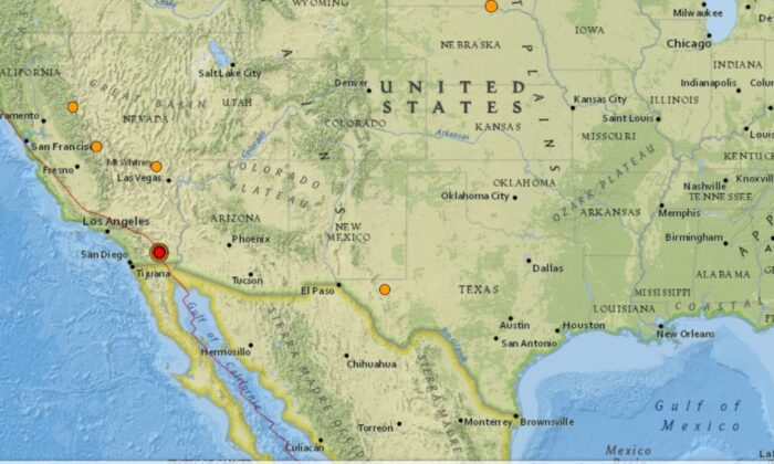 A 5.3 earthquake struck about seven miles west of Calipatria, Calif., on June 5, 2021. (USGS)