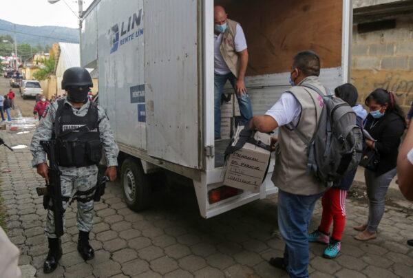 Mexican election box
