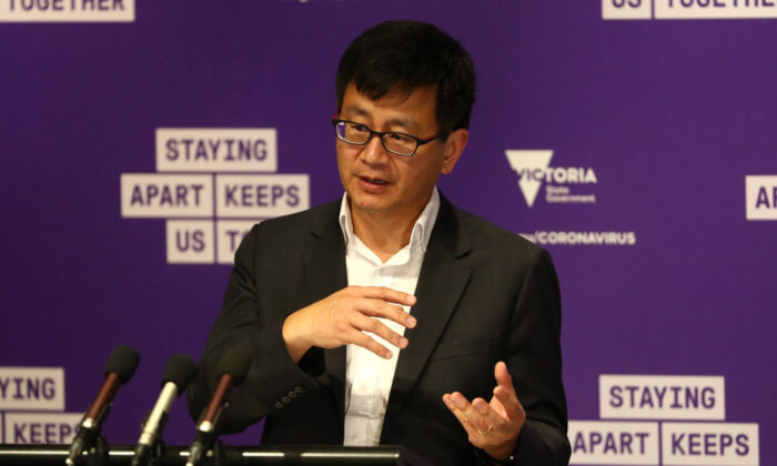 Deputy Health Minister Allen Cheng speaks during a press conference on September 23, 2020 in Melbourne, Australia. (Robert Cianflone/Getty Images)