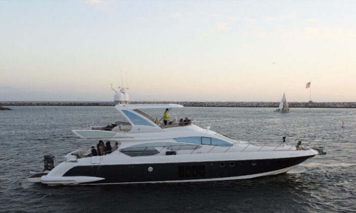The Princessa yacht leaves Marina del Rey, Calif., and heads out to sea. (Courtesy of Margot Black)