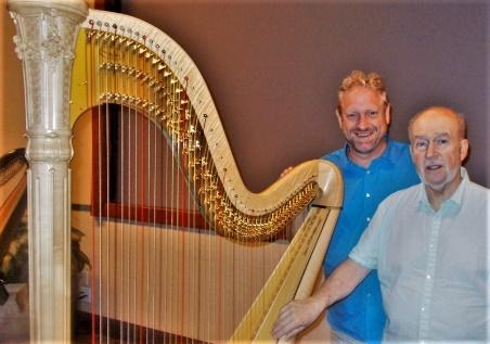 _Michael Kurek and Mario Falcao with harp