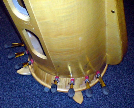 pedals on the harp
