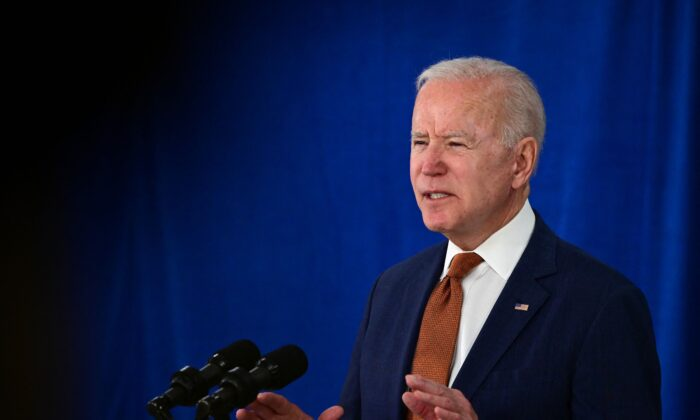 President Joe Biden speaks about the May jobs report at the Rehoboth Beach Convention Center, in Rehoboth Beach, Del., on June 4, 2021. (Jim Watson/AFP via Getty Images)