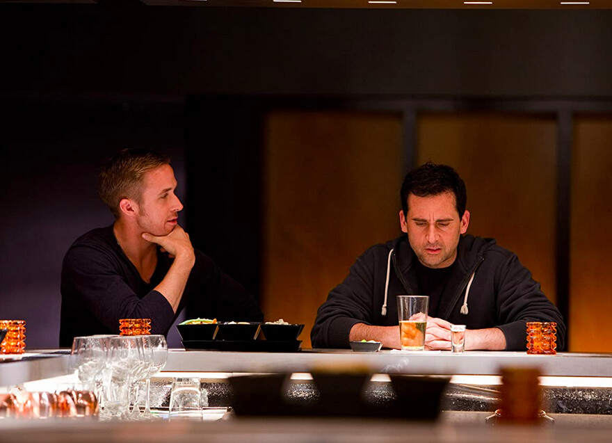 two men in a bar in Crazy Stupid Love