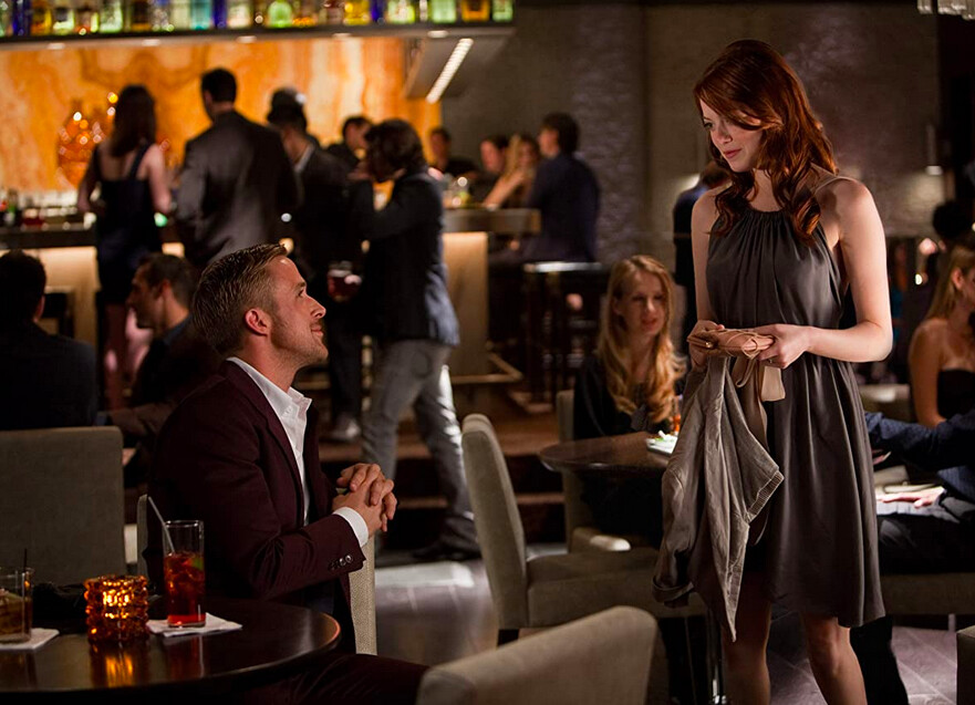 man and woman in a nightclub in Crazy Stupid Love
