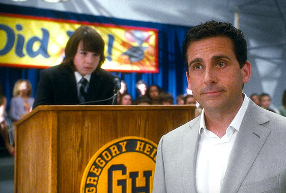 son and father in Crazy Stupid Love