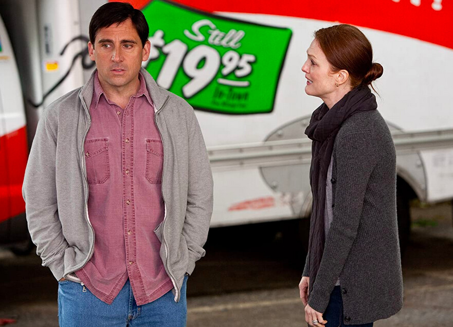 man and woman an moving van in Crazy Stupid Love