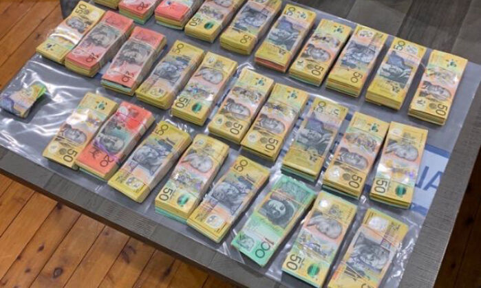 Cash seized as part of Operation Ironside (Supplied)