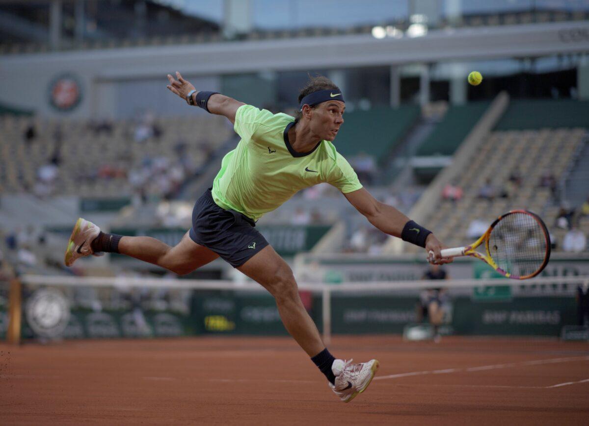 Rafael Nadal of Spain returns