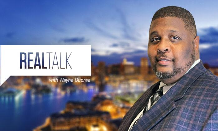 "Program banner of ""Real Talk with Wayne Dupree."" (EpochTV)"
