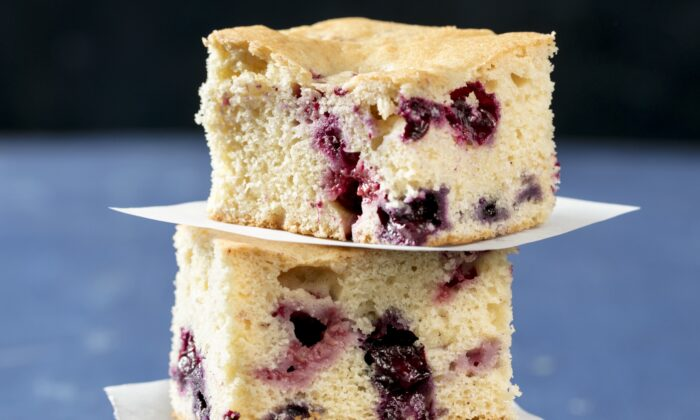Use fresh or thawed frozen berries for this snack cake. (Elle Simone)