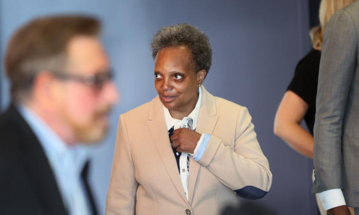 Chicago Mayor Lori Lightfoot on June 07, 2021 in Chicago, Illinois. (Scott Olson/Getty Images)