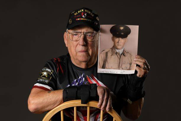 Hero's Bridge is keen on recognizing veterans for their service, then and now. Vietnam veteran Ed DeNeale poses for his Honor Guard photo. (Courtesy of Hero's Bridge)