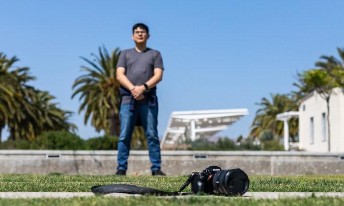 Photographer John Uy in Irvine, Calif., on May 7, 2021. (John Fredricks/The Epoch Times)