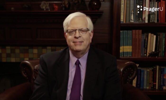 Dennis Prager in a video on the PragerU website. (Screenshot PragerU/The Epoch Times)