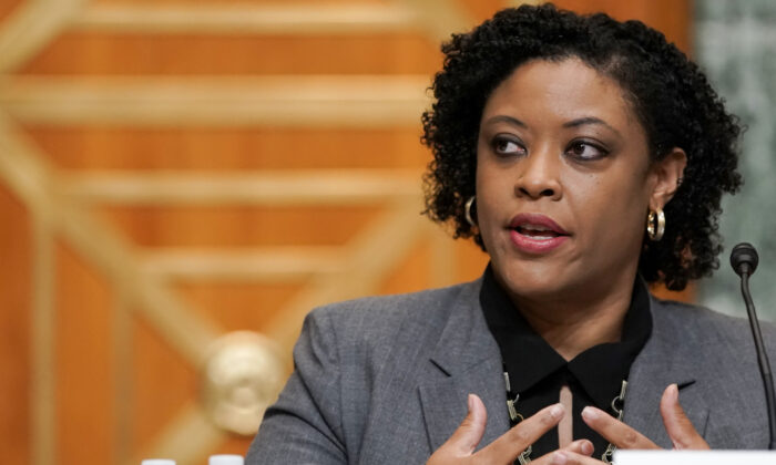Office of Management and Budget acting director Shalanda Young answers questions during a Senate Budget Committee hearing in Washington, on June 8, 2021. (Greg Nash-Pool/Getty Images)