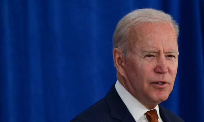 President Joe Biden speaks at the Rehoboth Beach Convention Center in Rehoboth Beach, Del., on June 4, 2021. (Jim Watson/AFP via Getty Images)
