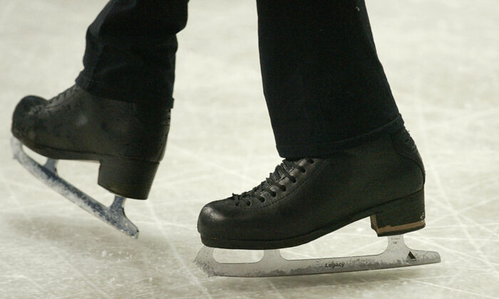A pair of figure skating boots in a file photo. (Jacques Demarthon/AFP via Getty Images)
