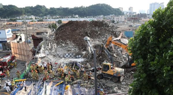 Collapse of Korean building