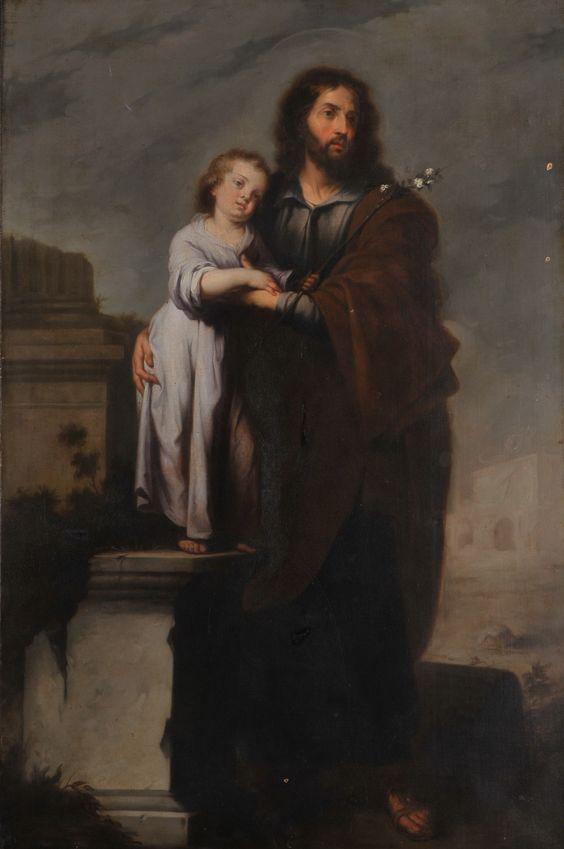 Murillo's St. Joseph in altar of Seville