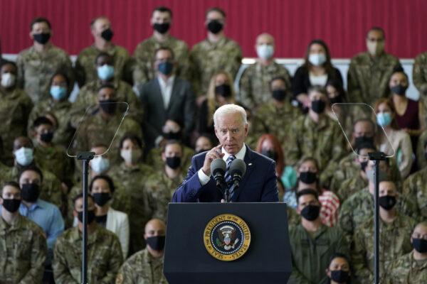 Biden speaks to American troops