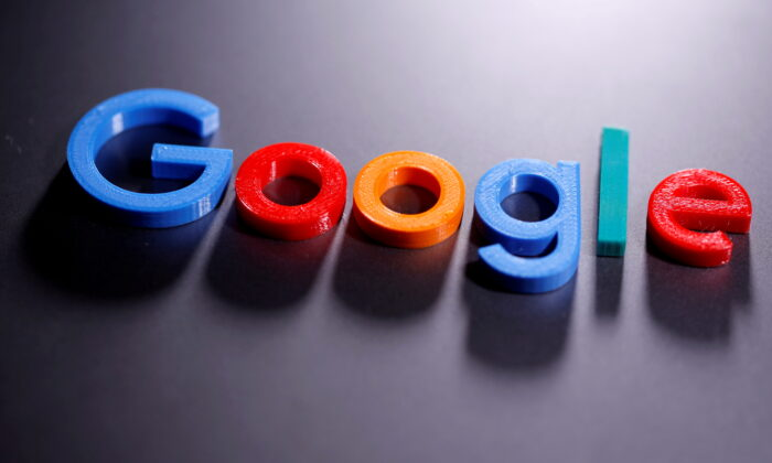 A 3D printed Google logo is seen in this illustration taken on April 12, 2020. (Dado Ruvic/Reuters)