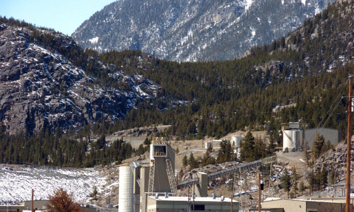 This May 2, 2013, file photo, shows the Stillwater platinum and palladium mine near Nye, Mont. (Matthew Brown/AP Photo/File)