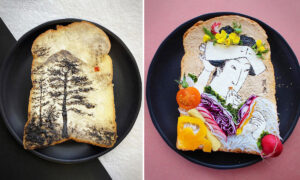 Japanese Designer Makes Toast Into Edible Works of Art—As Lockdown Inspires Breakfast Creativity