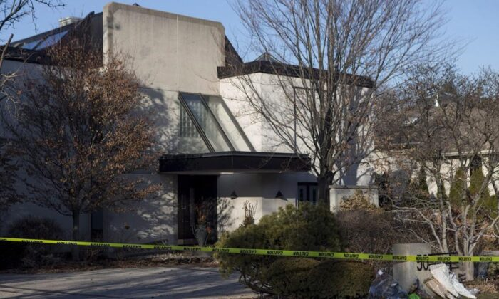 A general view of the Toronto home of Barry and Honey Sherman on January 26, 2018. The Supreme Court of Canada has ordered a trove of files related to murder victims Barry and Honey Sherman to be unsealed and opened to public access. (The Canadian Press/Chris Young)