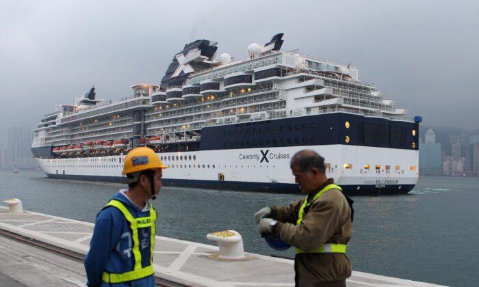 The 'Celebrity Millennium' ship in Hong Kong on March 16, 2013. (Dale de la Rey/AFP via Getty Images)