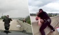 Louisiana Officers and Good Samaritan Save Woman From Jumping off Bridge in 'Team Effort'