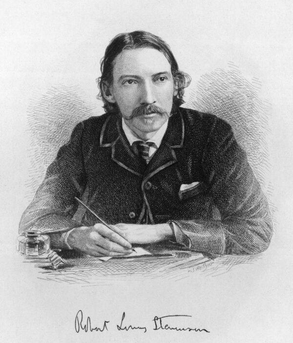 Robert Louis Stevenson writing