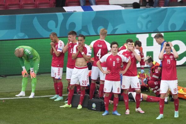 Denmark's players