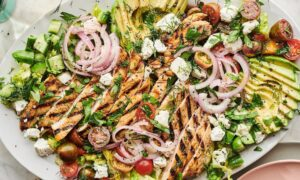The Big, Beautiful Grilled Chicken Salad I'm Eating on Repeat All Summer Long