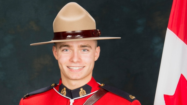 RCMP Const. Shelby Patton is shown in this undated handout photo. The 26-year-old constable, hailed as a model officer, was struck and killed by a truck he pulled over in rural Saskatchewan on Saturday morning. (HO, RCMP *Mandatory Credit* / The Canadian Press)