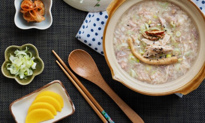 Juk can be cooked and topped with a variety of ingredients. (Sungsu Han/Shutterstock)