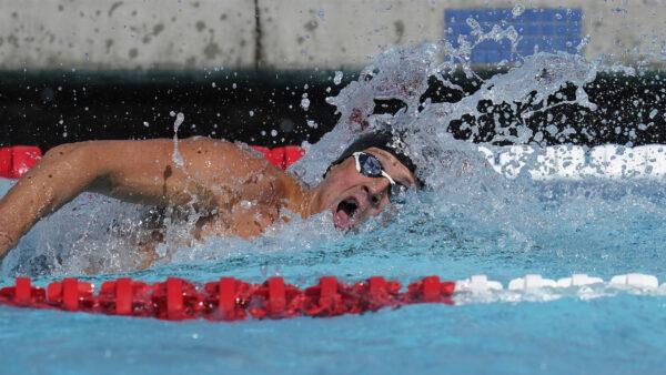 Ryan Lochte competes in the men's 200-meter final