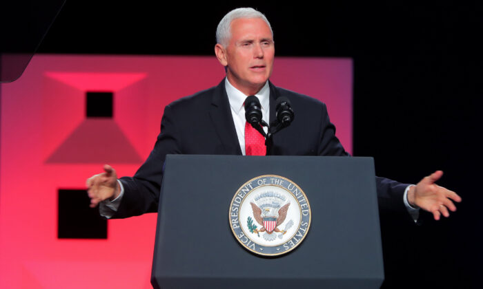 Vice President Mike Pence speaks at the Southern Baptist Convention meeting in Dallas, Texas, on June 13, 2018. (Rodger Mallison/Fort Worth Star-Telegram/TNS)