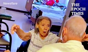 Emotional Reunion of Old Couple
