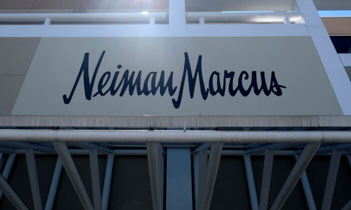 A closed Neiman Marcus store at the Garden State Plaza mall in Paramus, N.J on May 7, 2020. (Seth Wenig/AP Photo)