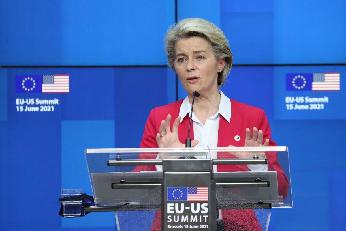 President of the EU Commission Ursula von der Leyen