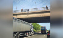 Man Seen Dangling Off UK Motorway Bridge—Then Truck Driver Parks Under Him to Save His Life