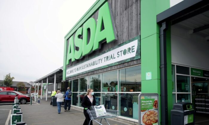 A general view shows the UK supermarket Asda, as the store launches a new sustainability strategy, in Leeds, Britain, on Oct. 19, 2020. (Molly Darlington/Reuters)