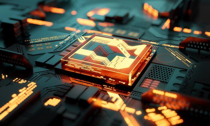 3D Illustration of a futuristic computer processor. (James Thew/Adobe Stock)