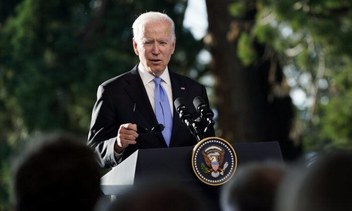 President Joe Biden speaks during a news conference after meeting with Russian President Vladimir Putin in Geneva, Switzerland, on June 16, 2021. (Patrick Semansky/AP Photo)