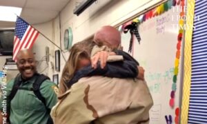 Military Dad Surprises Kids at School